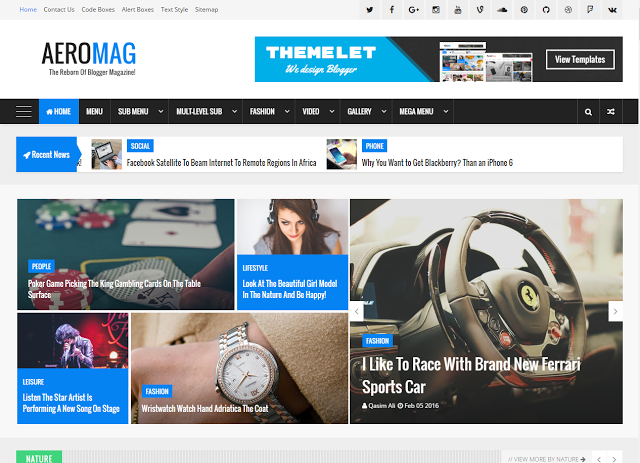 AeroMag Blogger Template