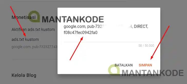 Blogspot Cara mengatasi ads txt diblogspot - baru 2 mantankode
