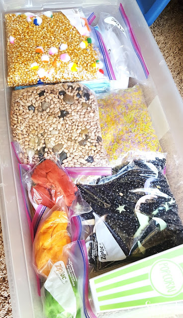 Sensory Bins for big kids is a great gift idea to bring sensory activities to kids in kindergarten and older. Combine it with some letter, number and sight word practice for an extra educational boost!