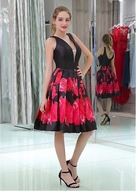 https://www.sassymyprom.com/collections/homecoming-under-100/products/floral-cloth-satin-v-neck-neckline-knee-length-a-line-homecoming-dresses