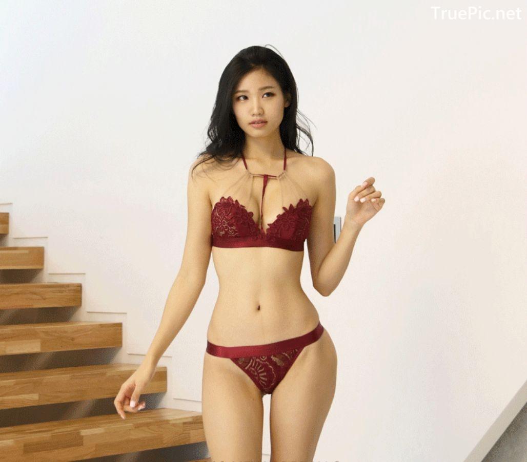 Image Korean Fashion Model - Lee Hee Eun - Baghdad Caffeine Burgundy Lingerie - TruePic.net - Picture-6