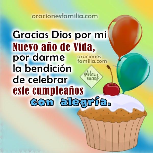 bendiciones por mi cumpleaños gracias al Señor