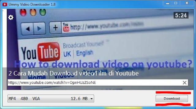 Download Video youtube menggunakan Ummy Video Downloader