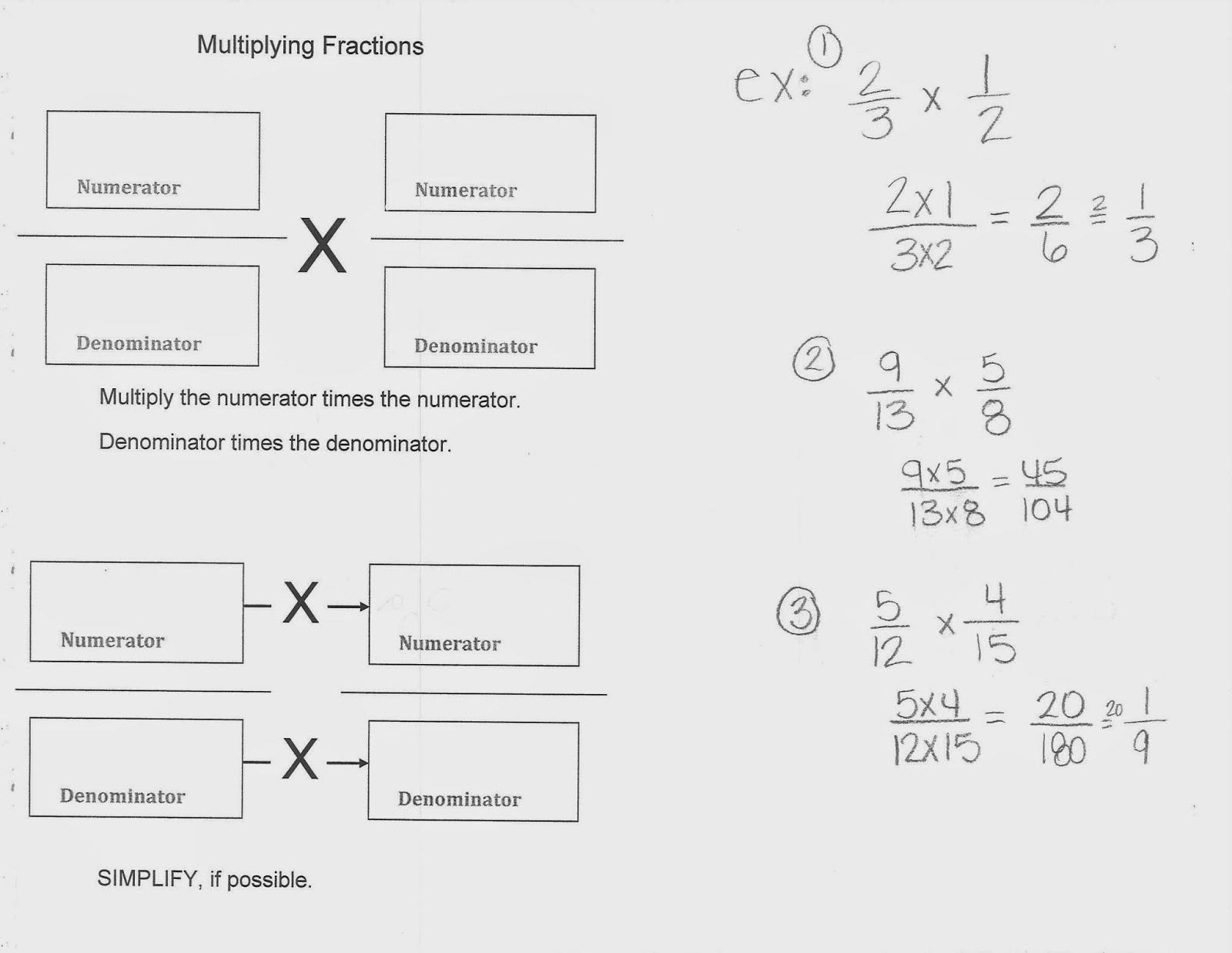 Mrs White S 6th Grade Math Blog Multiplying Fractions