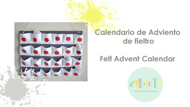 tutorial calendario adviento fieltro