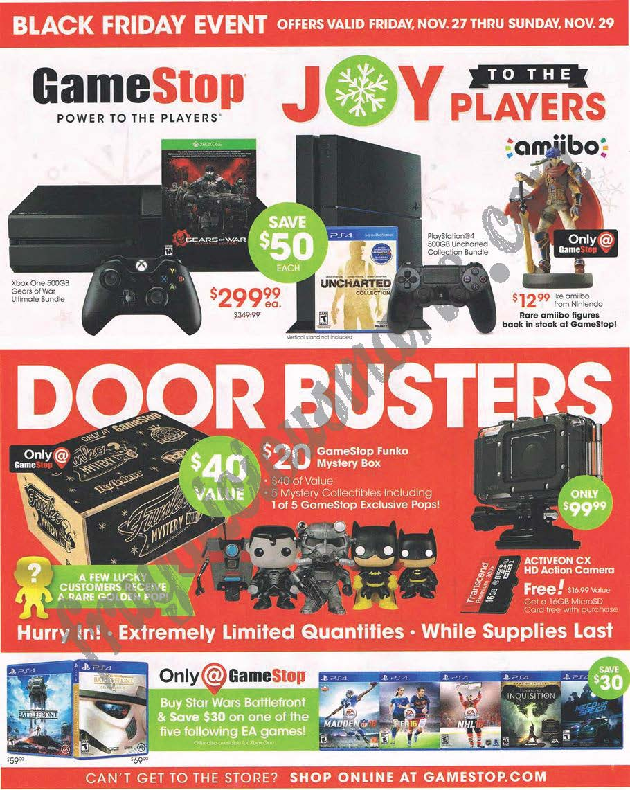 Attention Gamers The Gamestop Black Friday Ad Has Leaked