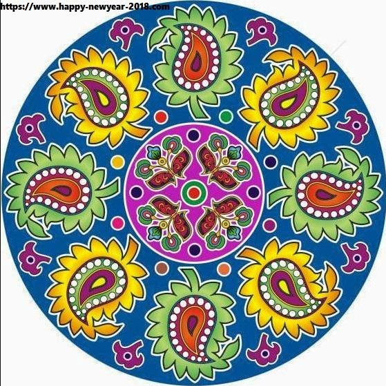 happy new year 2018 rangoli design images   happy new year