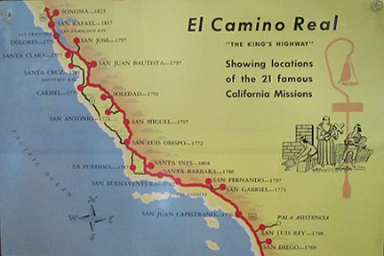 Map Of California Missions Locations.Travels With Auntie M Mission San Fernando Rey De Espana Ca 21