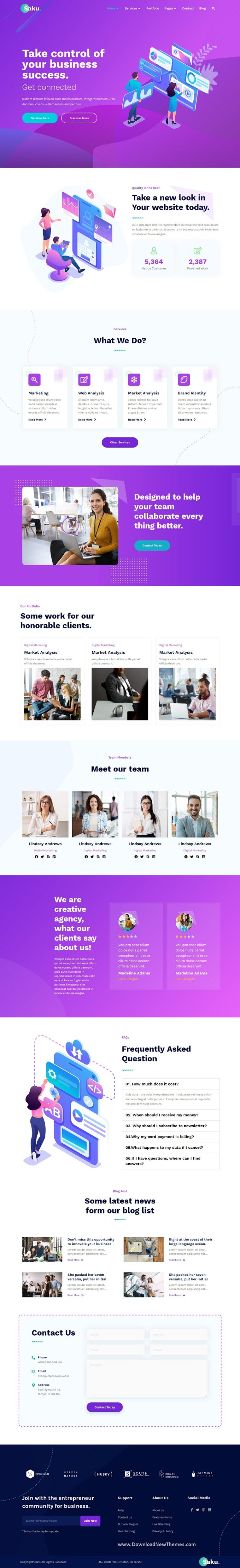 Business Agency Elementor Template Kit