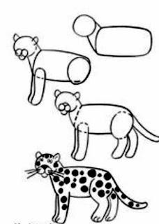 تعليم الرسم للاطفال المبتدئين رسم الفهد