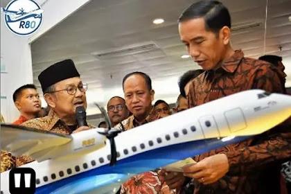 Ditargetkan Mengudara Tahun 2022, Begini Penampakan Pesawat Rancangan Habibie