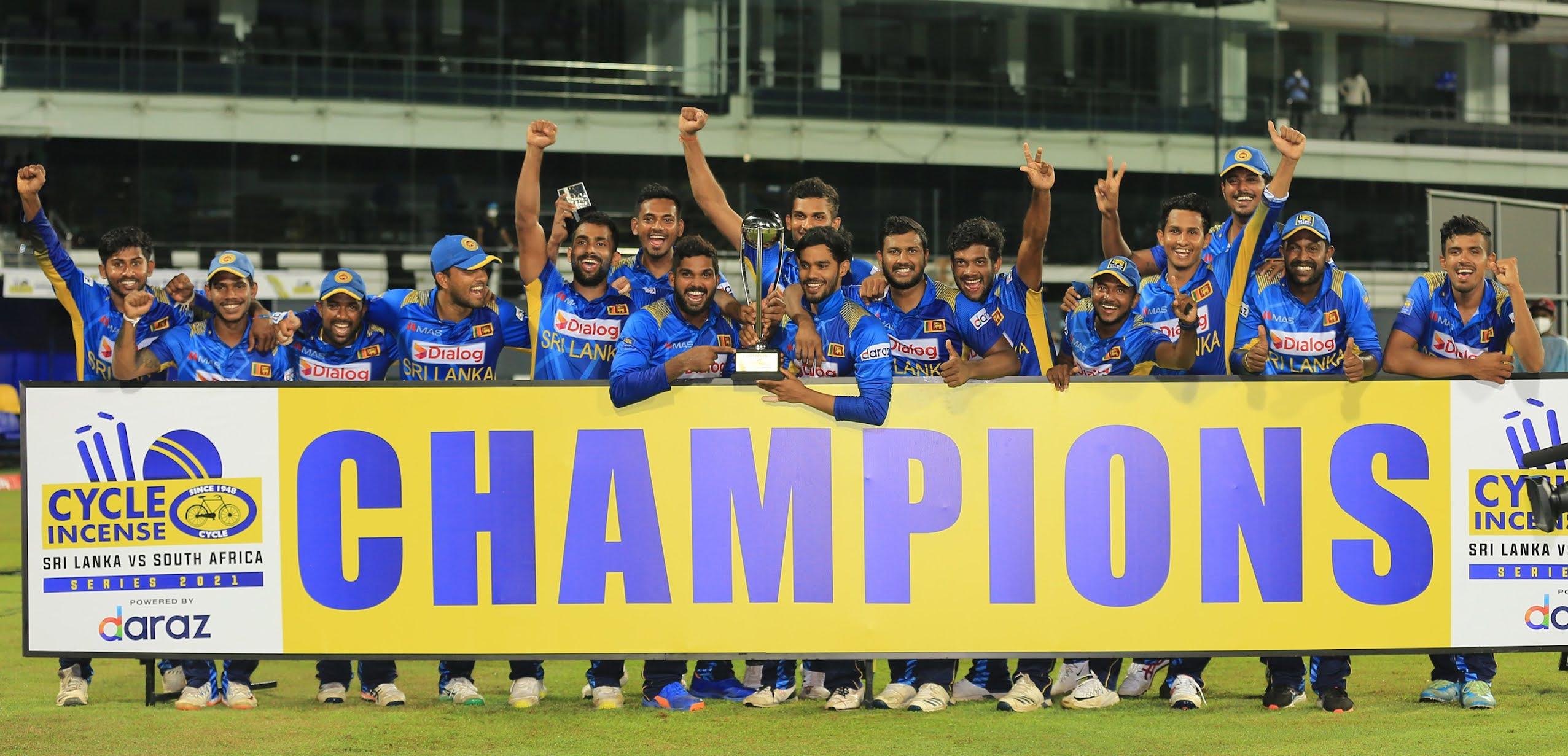 Sri lanka won the ODI cricket series