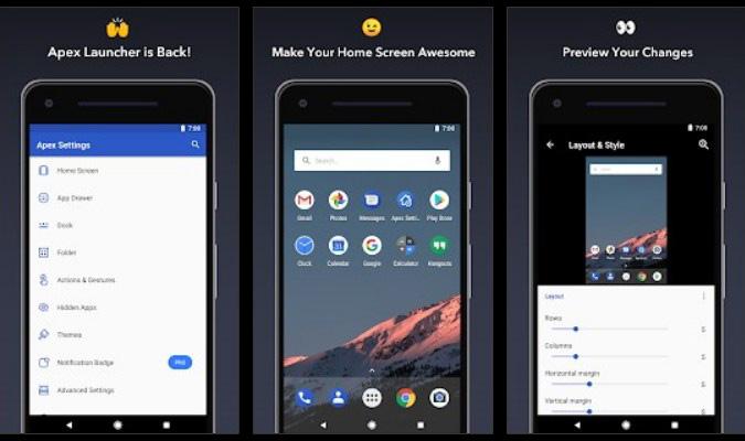 Sembunyikan ikon Aplikasi di Layar Android - Apex Launcher