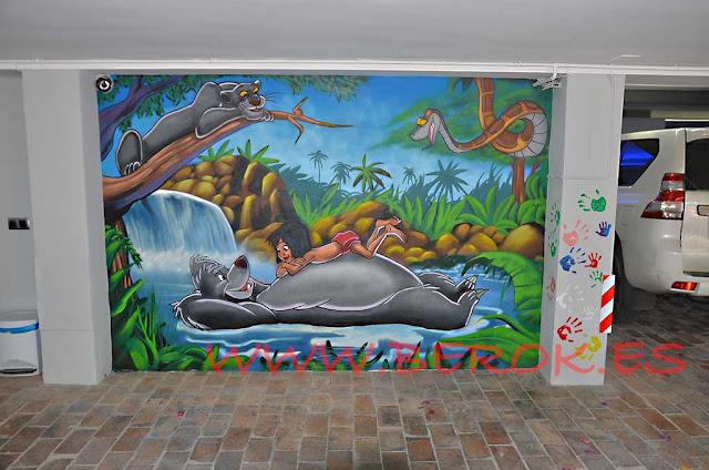 Graffiti El libro de la selva