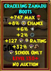 Wizard101 Best Level 130+ Gear
