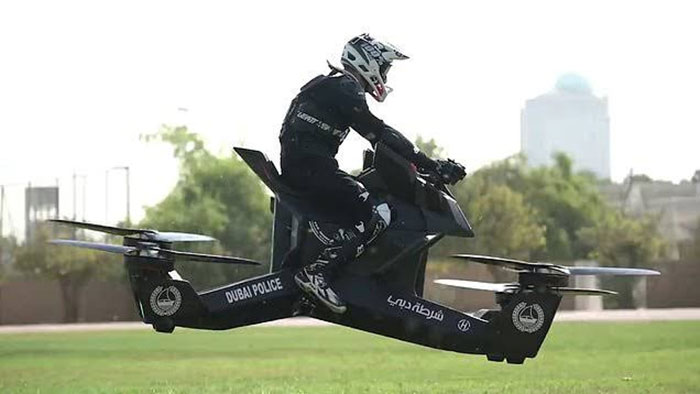 Hoverbike Sepeda Motor Terbang Polisi