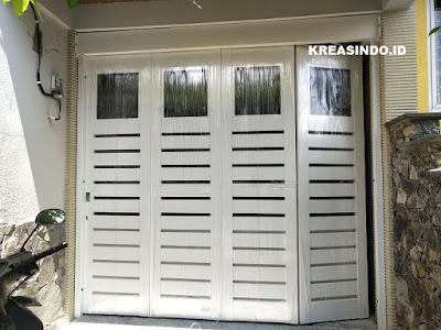 Pintu Garasi Besi pesanan Bpk Agus di Komplek Deppen RRI Depok sudah Terpasang