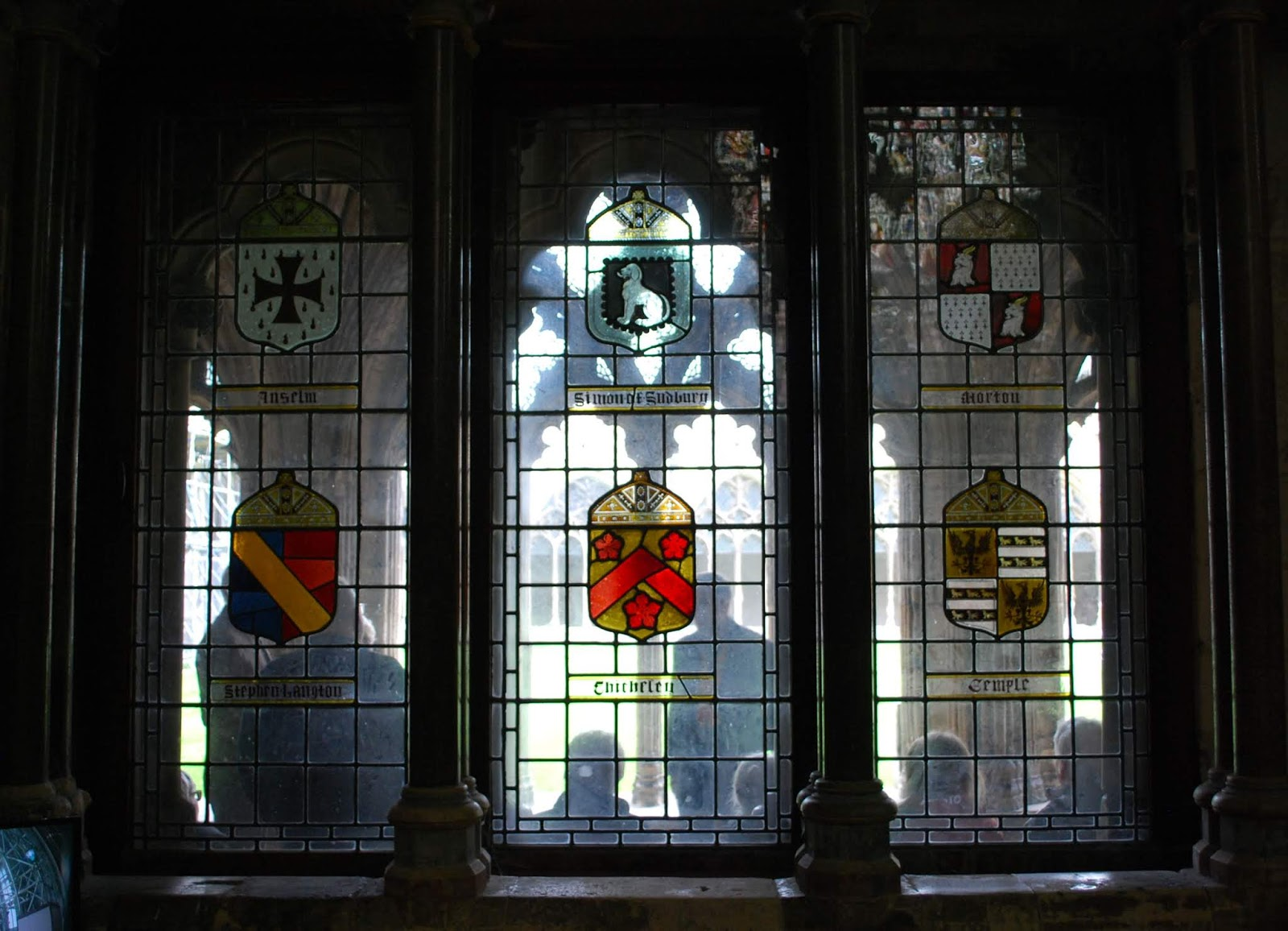 Heraldry More Arms In The Chapter House At Canterbury Cathedral