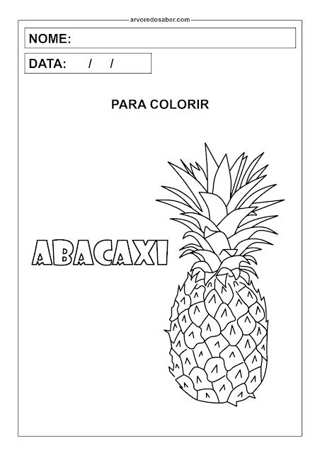 abacaxi para colorir