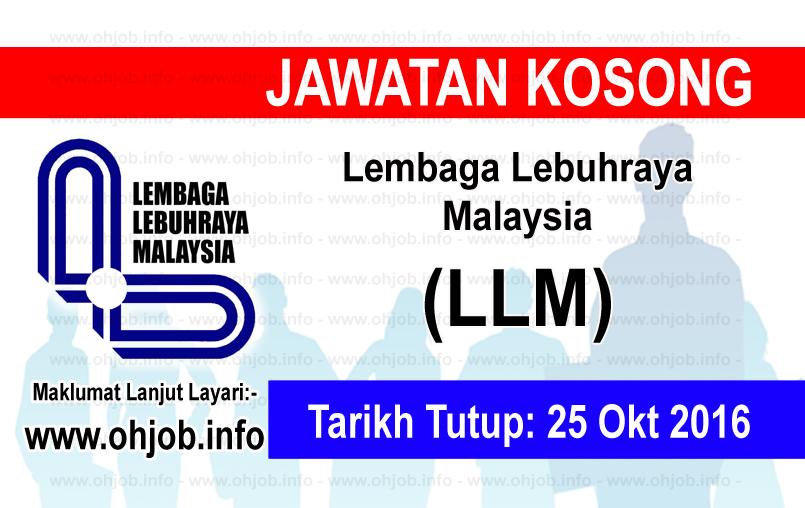 Jawatan Kerja Kosong Lembaga Lebuhraya Malaysia (LLM) logo www.ohjob.info oktober 2016