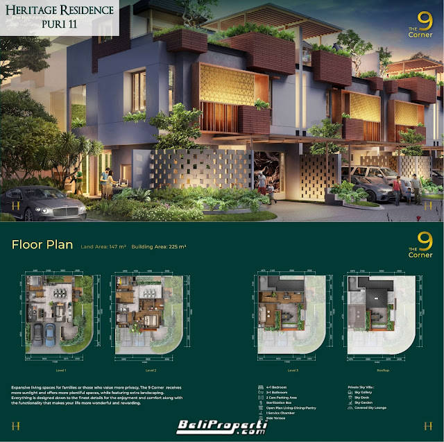 tipe unit puri 11 heritage residence