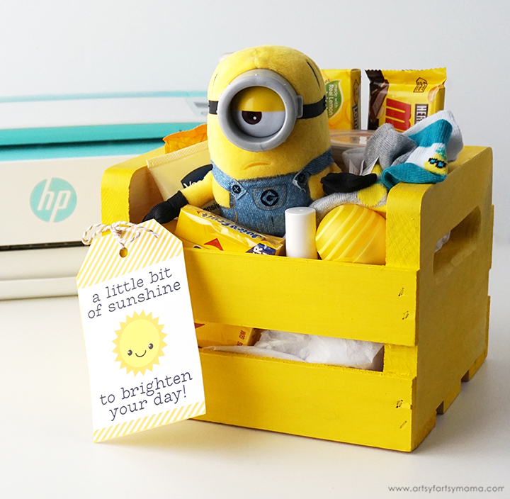 Sunshine Gift Box with Free Printable Gift Tag
