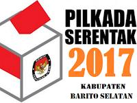 Hasil Quick Count / Hitung Cepat Pilbup, Pilkada Barito Selatan 2017