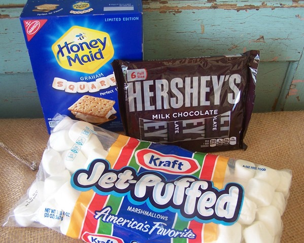 Honey Maid Graham Squares, Jet Puffed Marshmallows, and Hershey's Chocolate make a s'more perfect.