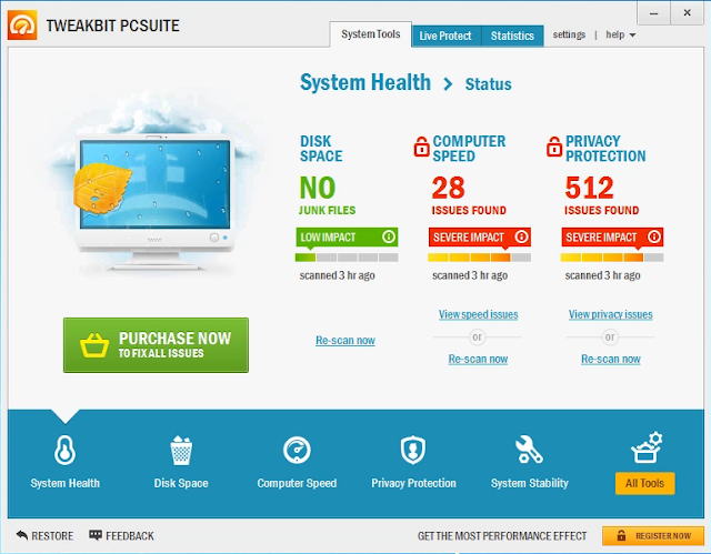 Fix PC problems Using TweakBit PCSuite 9.0 Full