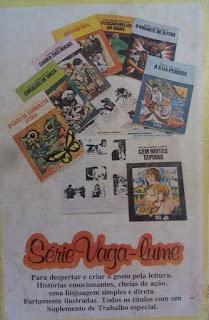 Éramos seis. Maria José Dupré. Editora Ática (São Paulo-SP). Coleção Vaga-Lume. 1979. Contracapa.