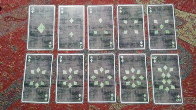 tarot cards diamonds pentacles