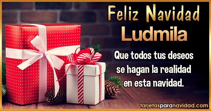 Feliz Navidad Ludmila