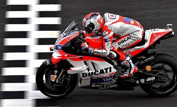 Dovizioso Berjaya di Trek Basah GP Malaysia, Rossi Kedua Lorenzo Ketiga