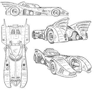 The Dork Review: Rob's Room: Batmobile Blueprints