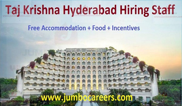 5 Star Hotel Taj Krishna Hyderabad Latest Job Vacancies 2019
