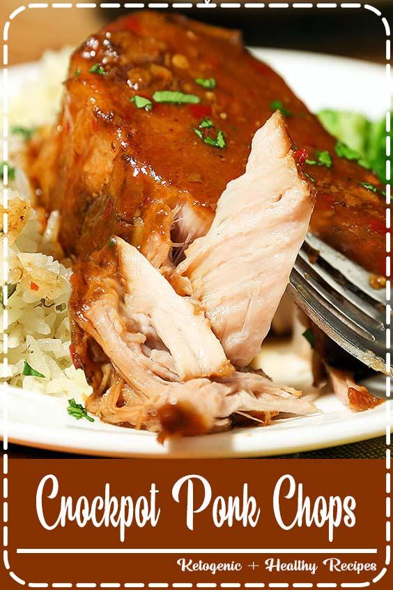 Crock Pot Pork Chops are the easiest slow cooker recipe ever Crockpot Pork Chops