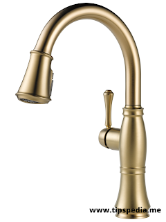 champagne brass bathroom faucet