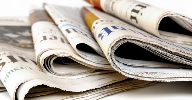 As manchetes dos jornais nesta terça-feira, 26 de Maio 2020