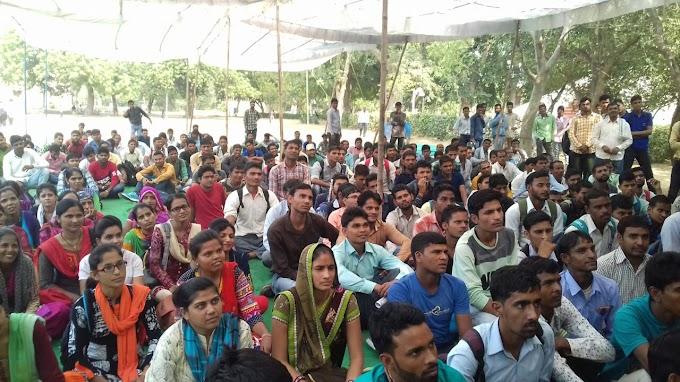 अलवर में उमड़ा बेरोजगारों का हुजूम,सरकार के खिलाफ ली यह सपथ,देखे फ़ोटो ओर वीडियो