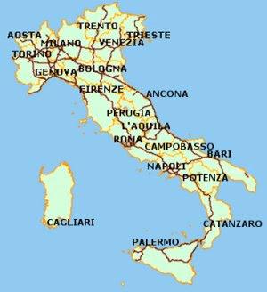 karta över italien Karta över Italien Politiska Regionen | Karta över Sverige  karta över italien