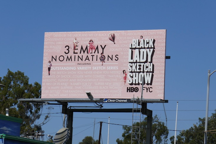 A Black Lady Sketch Show 2020 Emmy billboard