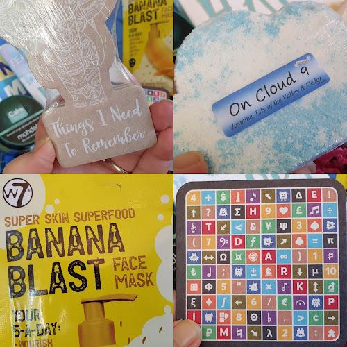 Teen Calm subscription treat box review elephant notepad quiz face mask bath bomb