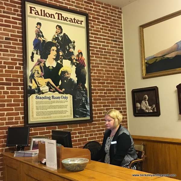 box office at the Fallon House Theater in Columbia State Historic Park in California