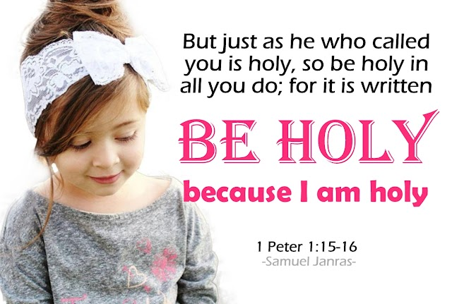 Be Holy Bible Quote