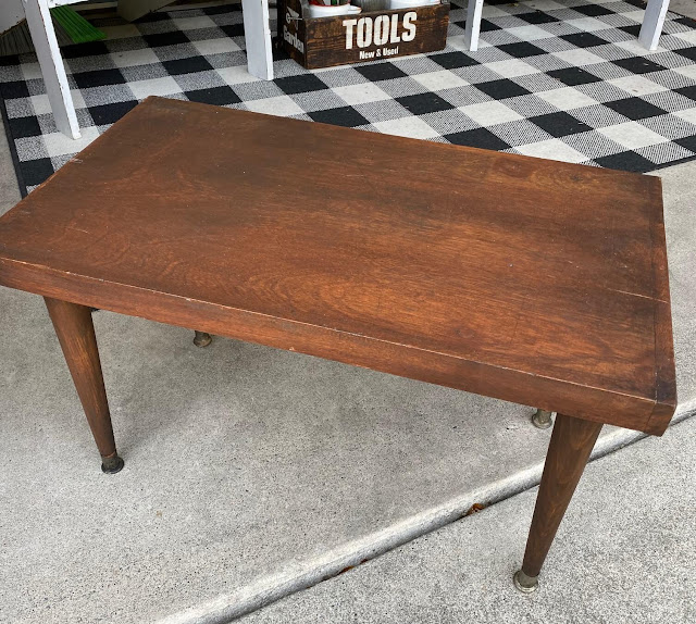 Photo of a vintage midcentury modern coffee table
