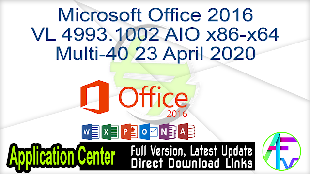 Microsoft Office Professional Plus 2016 x64 v16.0.4639.1000 Jan2018