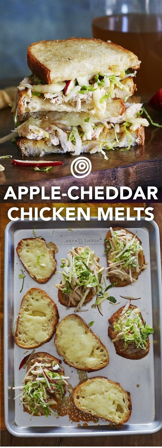 Apple, Cheddar, & Chicken Melts