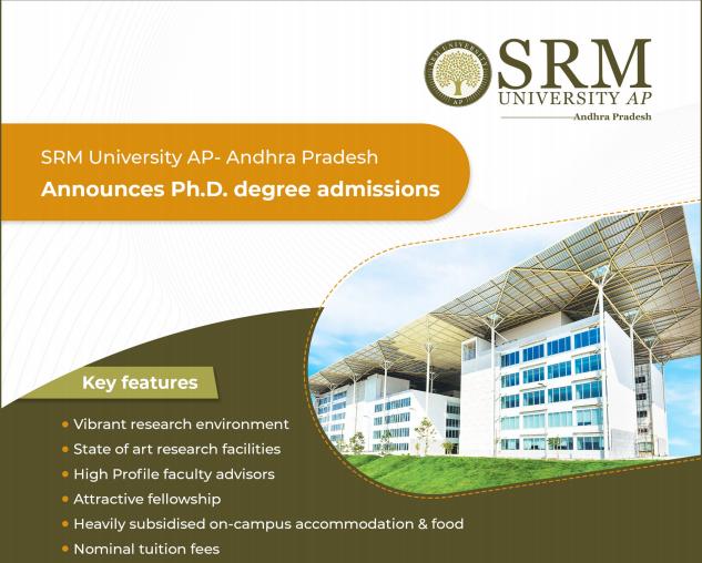 SRM AP Biology PhD Admisssions 2020