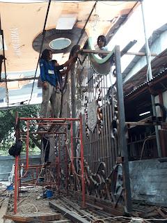 Pembuatan, Pintu, Gerbang, Pagar, Besi, Tempa,  Klasik, untuk wilayah Kendari