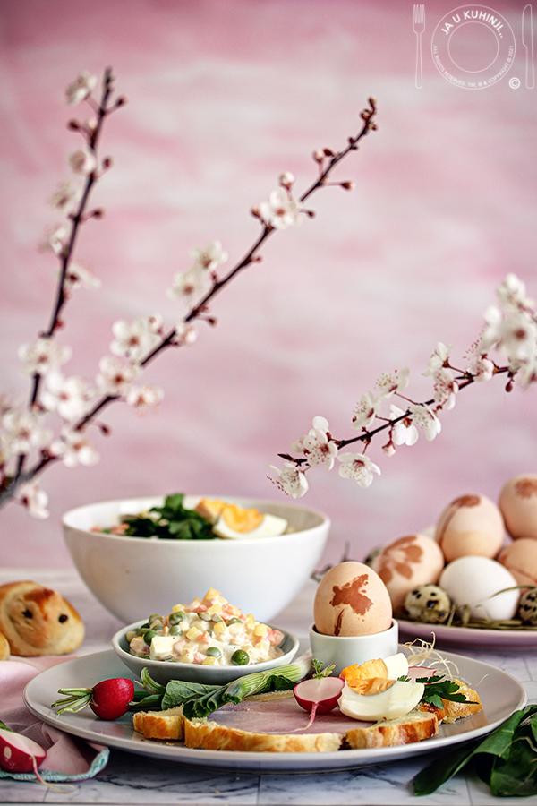 Predlog Uskršnjeg doručka - Šunka u testu i francuska salata
